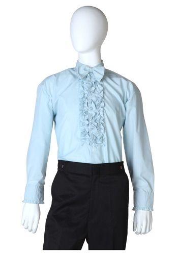 Ruffled Blue Tuxedo Shirt