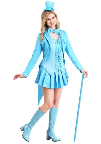 Sexy Sky Blue Tuxedo Costume