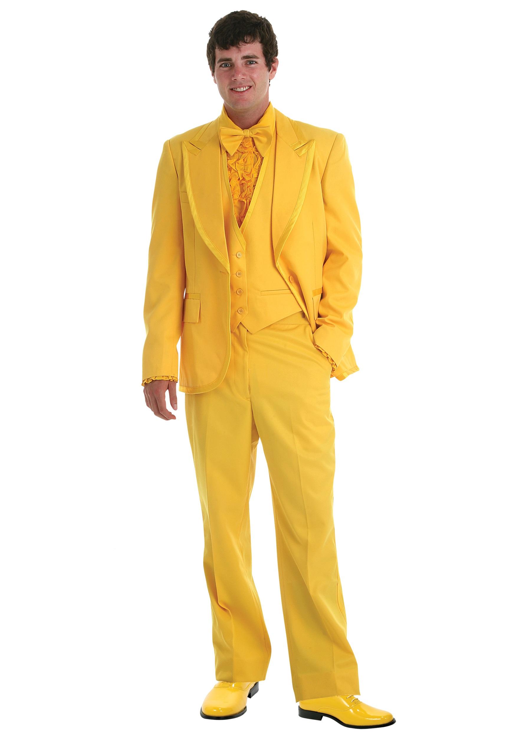Deluxe Yellow Tuxedo - Men\'s Prom Tuxedos